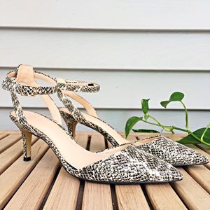 Banana Republic Natural Snake Effect Leather Heels